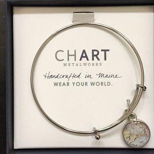 Chart Metalworks cape cod bangle bracelet NIB